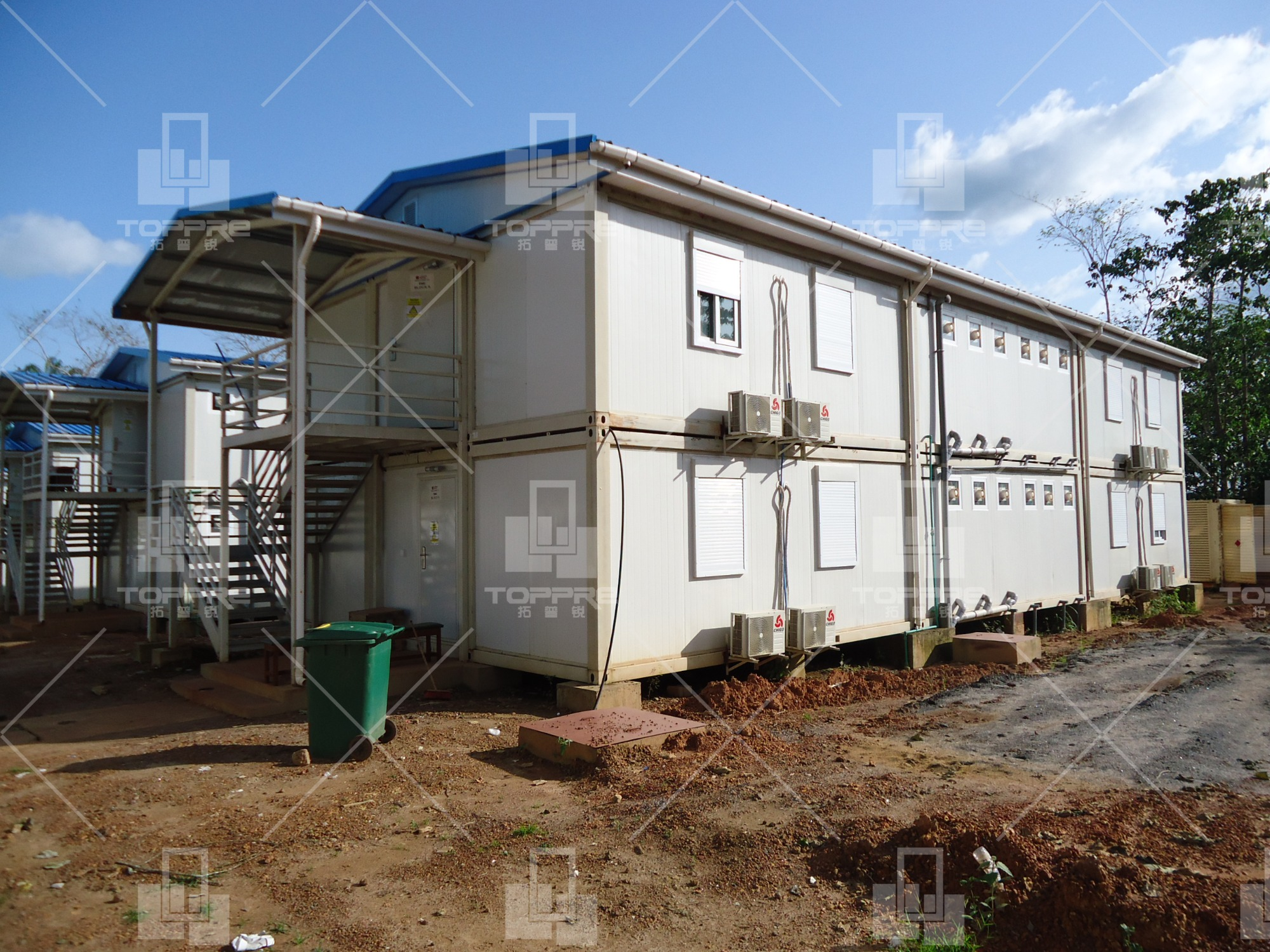 Liberia 2 layer container house project